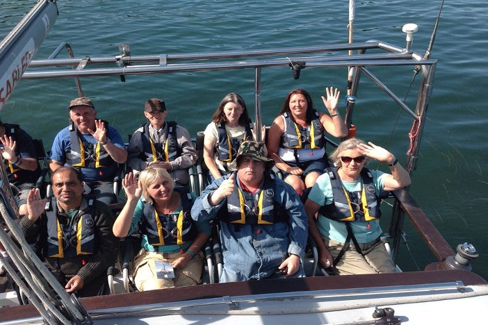 Disabled People Sailing off the Coast of Dorset