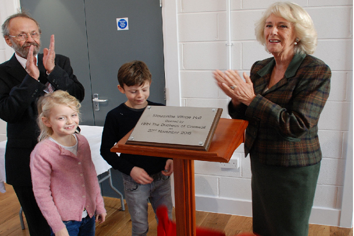 Dutchess of Cornwall at the opening of the Stourpaine Village Hall